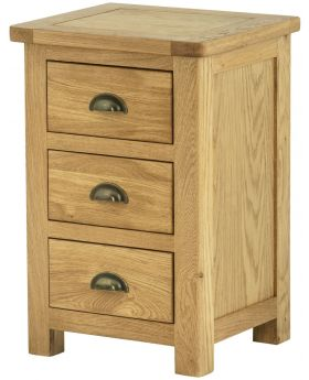 Classic Furniture Portland Bedside Cabinet-oak