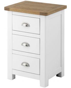 Classic Furniture Portland Bedside Cabinet-white