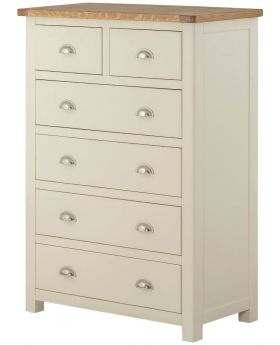 Classic Furniture Portland 2 over 4 Chest-cream
