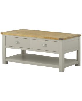 Classic Furniture Portland Coffee Table with Drawers-stone