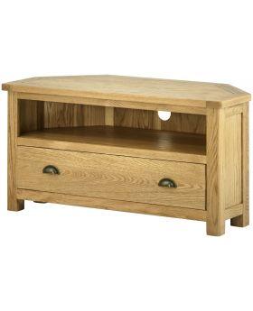 Classic Furniture Portland Corner TV Cabinet-oak