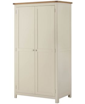 Classic Furniture Portland 2 Door Wardrobe-cream