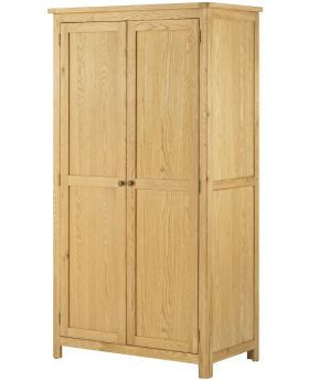 Classic Furniture Portland 2 Door Wardrobe-oak