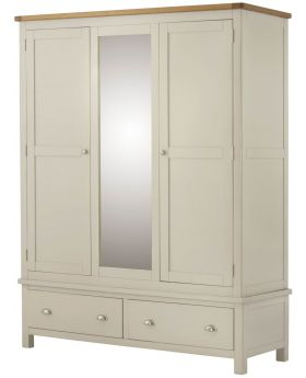 Classic Furniture Portland Triple Wardrobe-cream