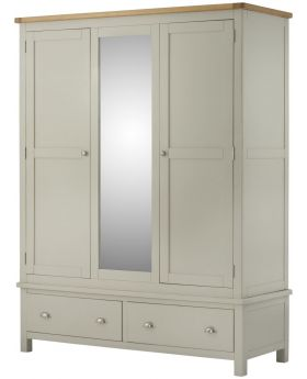 Classic Furniture Portland Triple Wardrobe-stone