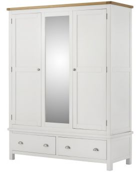 Classic Furniture Portland Triple Wardrobe-white