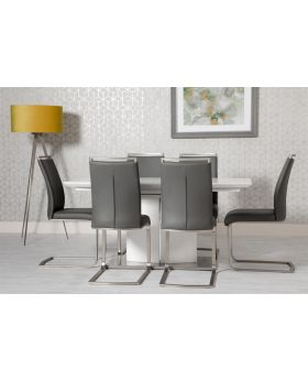 Prado Extending High Gloss White Dining Table