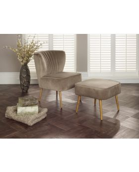 Serene Prestwick Fabric Chair and Footstool