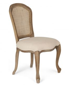 Classic Furniture Paris Limed Oak Chair with Rattan Back