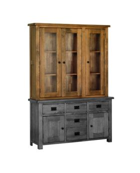 "Devonshire Rustic Oak 4'6"" Glass Top"