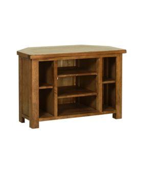Devonshire Rustic Oak Corner Tv Cabinet