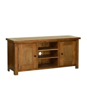 Devonshire Rustic Oak Large Tv Cabinet