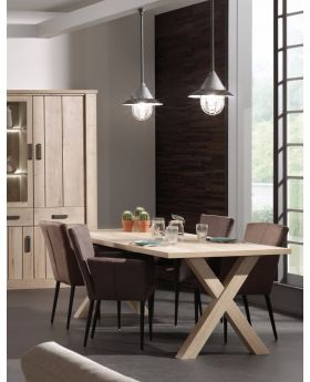 Recor Belgique X Frame Dining Table