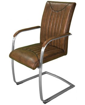 Industrial Retro Stitch Carver Dining Armchair