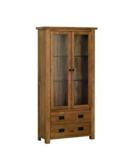 Devonshire Rustic Oak Display Cabinet
