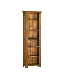 Devonshire Rustic Oak 6' Narrow Bookcase