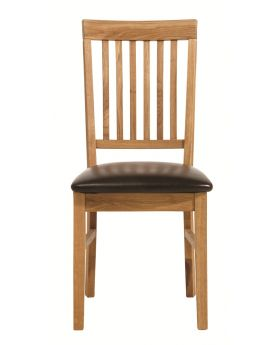 Pair of Unique Royal Oak Dining Chair with PU Seat Pad