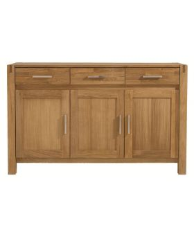 Unique Royal Oak 3 Door Sideboard
