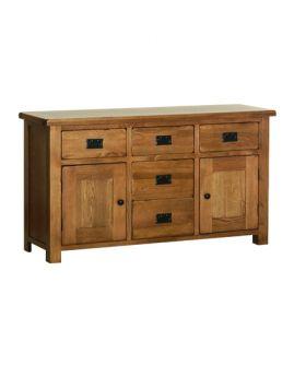 """Devonshire Rustic Oak 4'6"""" Dresser Base"""