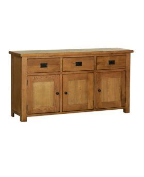 Devonshire Rustic Oak Large Sideboard