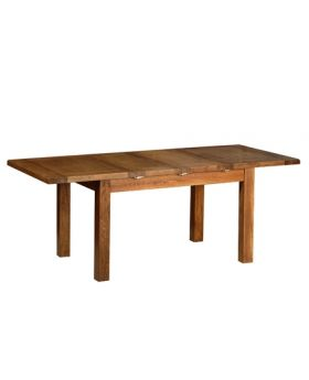 "Devonshire Rustic Oak 4'4"" Extendable Table (2 Leaf)"