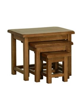 Devonshire Rustic Oak Small Nest Of Tables