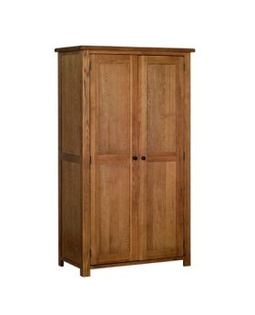 Devonshire Rustic Oak Ladies All Hanging Wardrobe