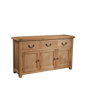 Devonshire Somerset Oak 3 Door 3 Drawer Sideboard