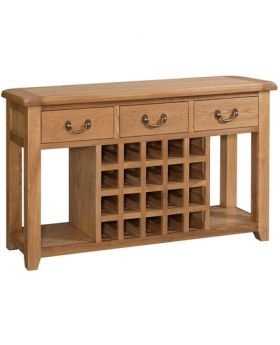 Devonshire Somerset Oak Open Sideboard