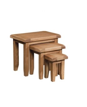 Devonshire Somerset Oak Nest Of Tables