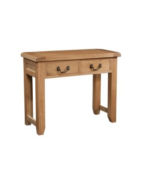 Devonshire Somerset Oak 2 Drawer Console Table