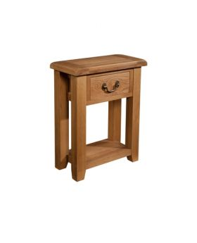 Devonshire Somerset Oak 1 Drawer Console Table
