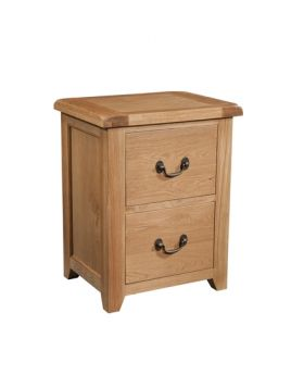 Devonshire Somerset Oak 2 Drawer Filing Cabinet