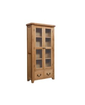 Devonshire Somerset Oak Display Cabinet
