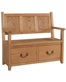 Devonshire Somerset Oak Monks Bench