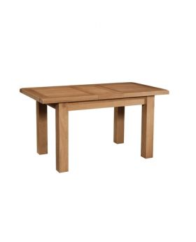 Devonshire Somerset Oak Dining Table With 1 Extension 120-153 X 80