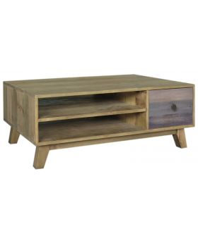 Classic Furniture Heirloom Reclaimed Coffee Table with Drawer