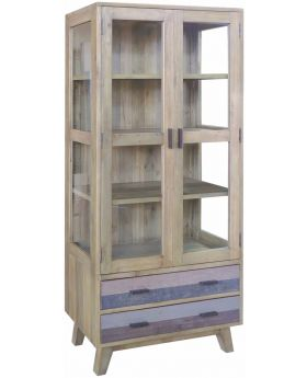 Classic Furniture Heirloom Reclaimed Glazed Display Cabinet