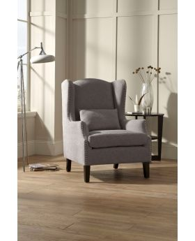 Serene Stirling Wingback Fabric Chair