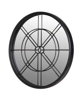 Round Iron Frame Mirror