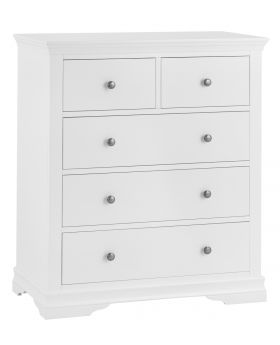 Kettle SW Bedroom White 2 Over 3 Chest of Drawers