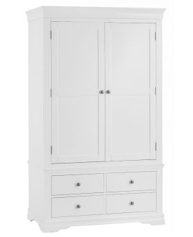 Kettle SW Bedroom White 2 Door Wardrobe