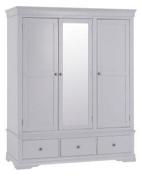 Kettle SW Bedroom Grey 3 Door Wardrobe