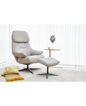 Sydney Swivel Recliner Chair & Stool