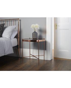 Serene Taurus Rose Gold Lamp Table