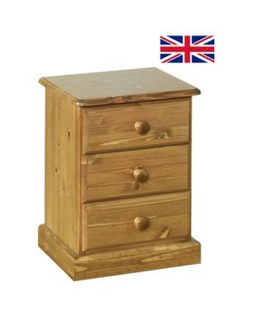 Devonshire Torridge Small 3 Drawer Bedside