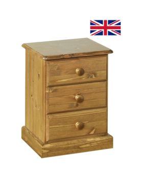 Devonshire Torridge Small 3 Drawer Bedside