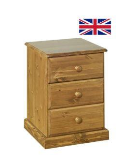 Devonshire Torridge 3 Drawer Bedside