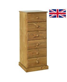 Devonshire Torridge 6 Drawer Bedside