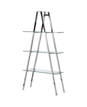 Terano Glass and Steel 3 Tier Display Shelves